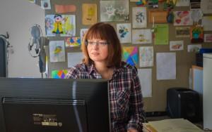 Unsere Sekretärin Elke Dudda